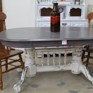 You Re Viewing Farmhouse Distressed Gray White Dining Table 300 00